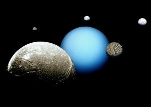 Uranus and Moons- courtesy of NASA