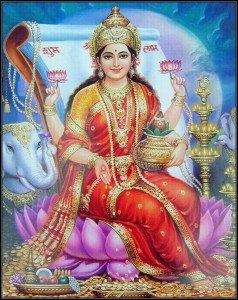 Lakshmi, Venus and the New Moon