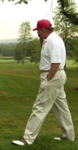 trump golf walk